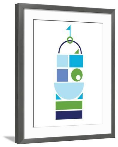 Blue Large Castle-Avalisa-Framed Art Print