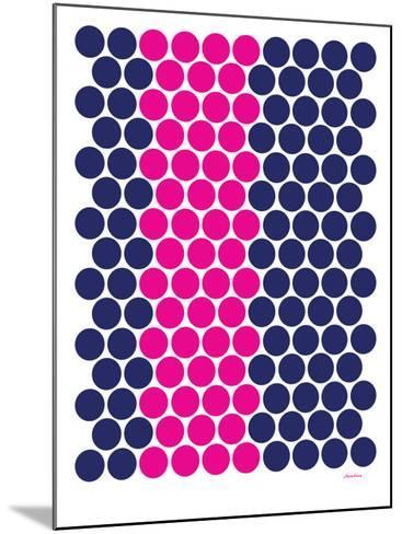 Blue Pink Dots-Avalisa-Mounted Art Print