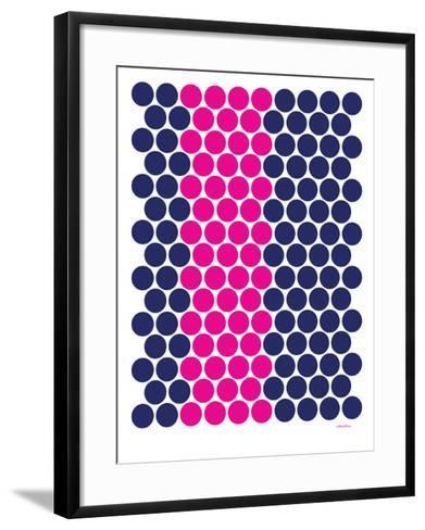 Blue Pink Dots-Avalisa-Framed Art Print
