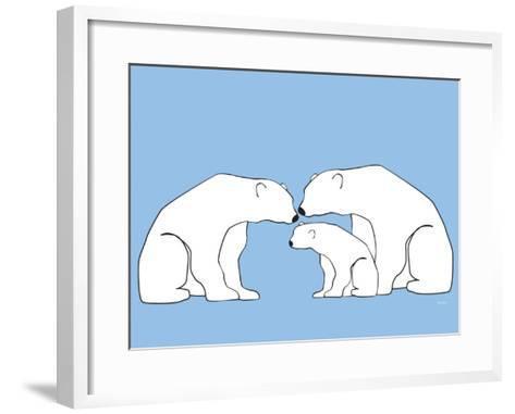 Blue Polar Bears-Avalisa-Framed Art Print
