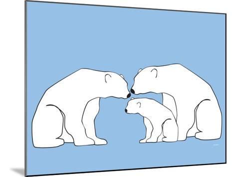 Blue Polar Bears-Avalisa-Mounted Art Print