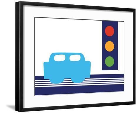 Blue Stop Light-Avalisa-Framed Art Print