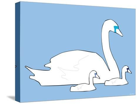 Blue Swan-Avalisa-Stretched Canvas Print