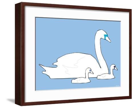 Blue Swan-Avalisa-Framed Art Print