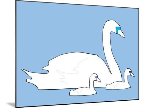 Blue Swan-Avalisa-Mounted Art Print