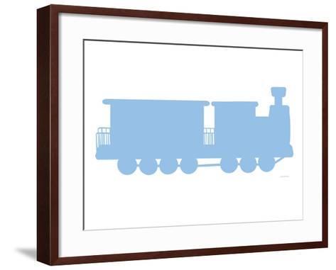 Blue Train-Avalisa-Framed Art Print