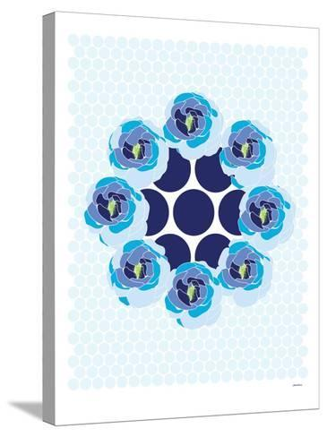 Blue Wreath-Avalisa-Stretched Canvas Print