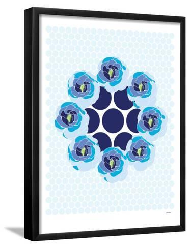 Blue Wreath-Avalisa-Framed Art Print