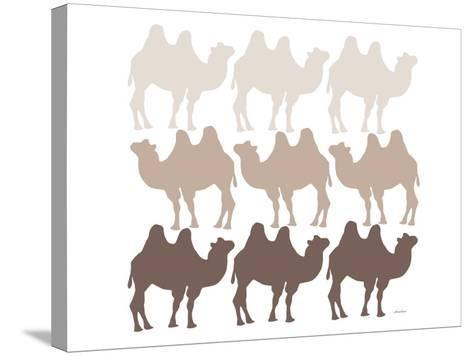 Brown Camel Family-Avalisa-Stretched Canvas Print