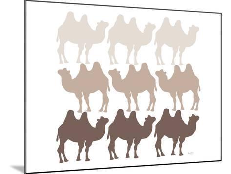 Brown Camel Family-Avalisa-Mounted Art Print