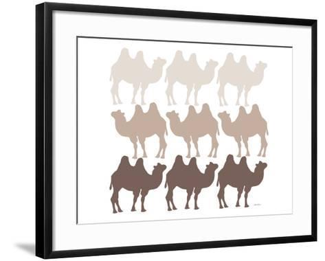 Brown Camel Family-Avalisa-Framed Art Print