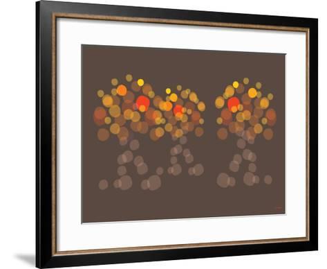 Brown Orange Wonder-Avalisa-Framed Art Print