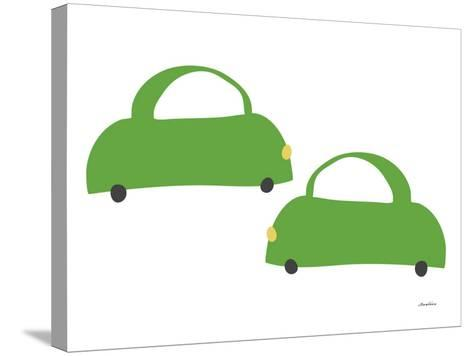 Green Cabs-Avalisa-Stretched Canvas Print