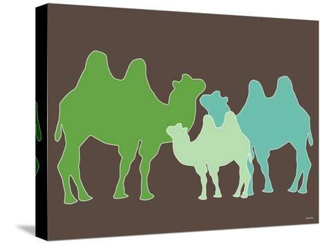Green Camel-Avalisa-Stretched Canvas Print