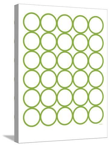 Green Circles-Avalisa-Stretched Canvas Print