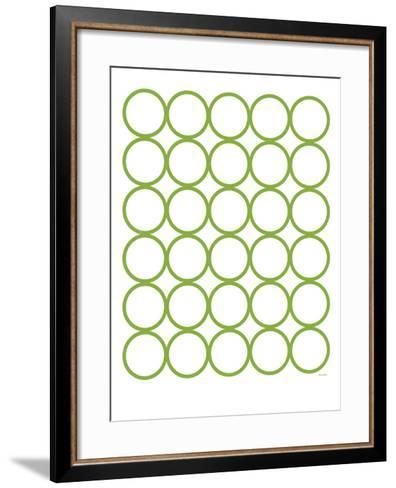 Green Circles-Avalisa-Framed Art Print