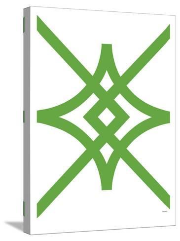 Green Diamond-Avalisa-Stretched Canvas Print