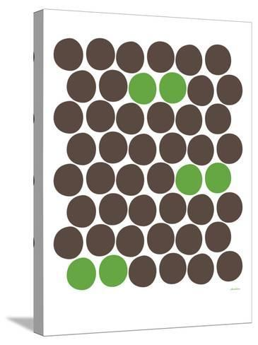 Green Dots-Avalisa-Stretched Canvas Print
