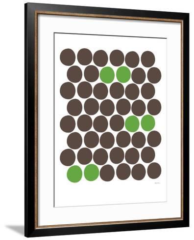 Green Dots-Avalisa-Framed Art Print