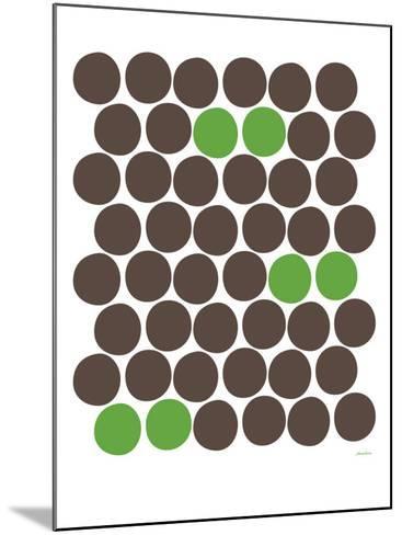 Green Dots-Avalisa-Mounted Art Print