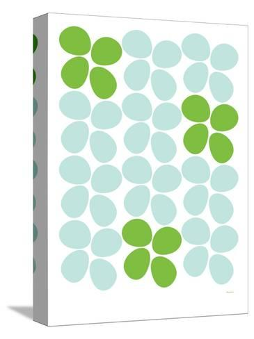 Green Flowers-Avalisa-Stretched Canvas Print