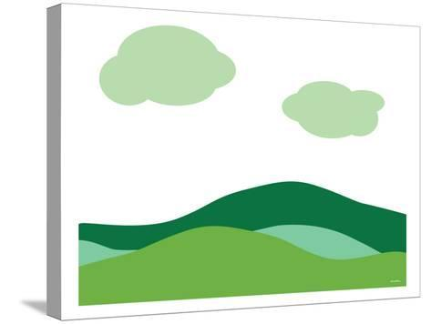 Green Landscape-Avalisa-Stretched Canvas Print