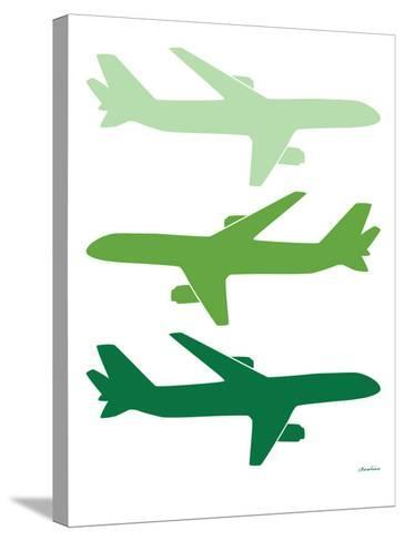 Green Planes-Avalisa-Stretched Canvas Print