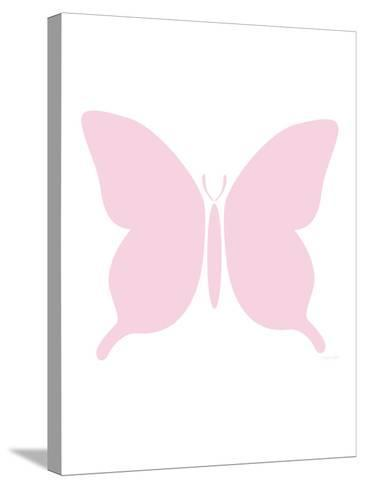 Large Pink Butterfly-Avalisa-Stretched Canvas Print