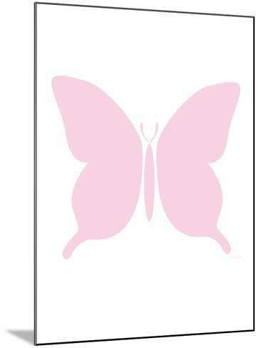Large Pink Butterfly-Avalisa-Mounted Art Print