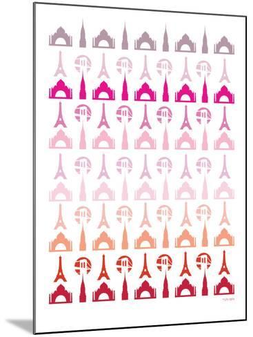 Pink Travel Architecture-Avalisa-Mounted Art Print
