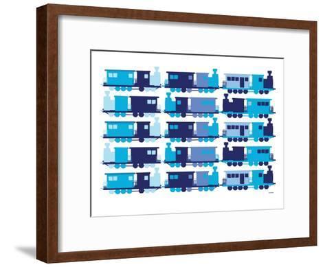 Multi Train Blue-Avalisa-Framed Art Print