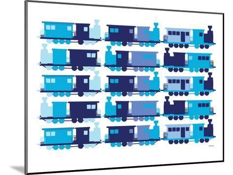 Multi Train Blue-Avalisa-Mounted Art Print