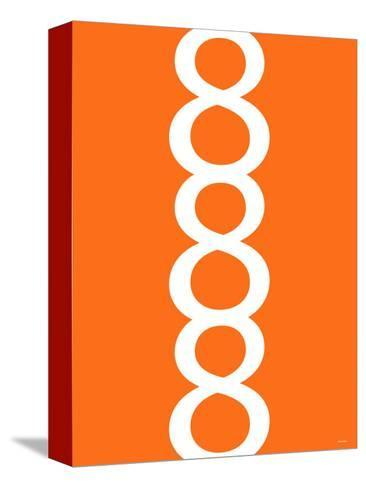 Orange Figure 8 Design-Avalisa-Stretched Canvas Print