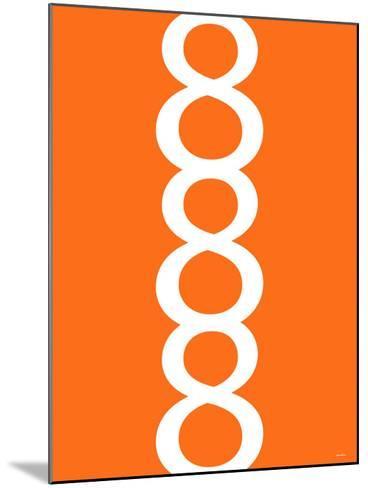 Orange Figure 8 Design-Avalisa-Mounted Art Print