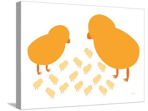 Orange Chicks-Avalisa-Stretched Canvas Print