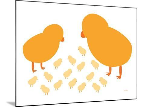 Orange Chicks-Avalisa-Mounted Art Print