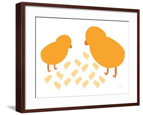 Orange Chicks-Avalisa-Framed Art Print