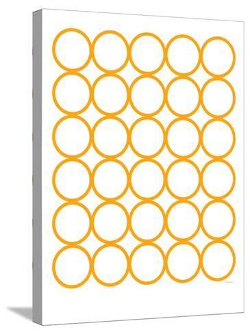 Orange Circles-Avalisa-Stretched Canvas Print
