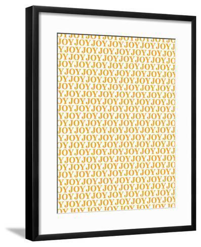 Orange Joy Joy Joy-Avalisa-Framed Art Print