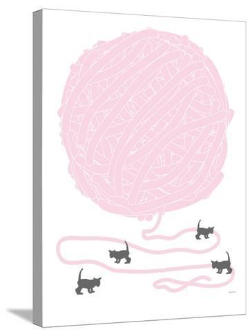 Pink Ball of Yarn-Avalisa-Stretched Canvas Print