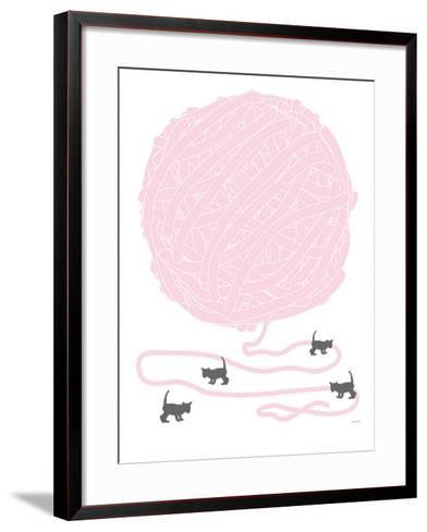 Pink Ball of Yarn-Avalisa-Framed Art Print