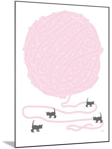 Pink Ball of Yarn-Avalisa-Mounted Art Print