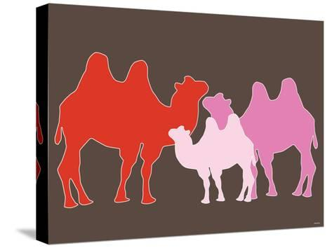 Pink Camel-Avalisa-Stretched Canvas Print