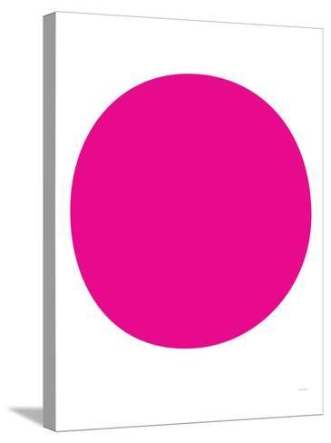 Pink Circle-Avalisa-Stretched Canvas Print