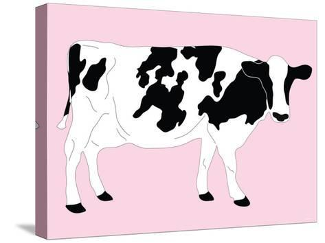 Pink Dairy Cow-Avalisa-Stretched Canvas Print
