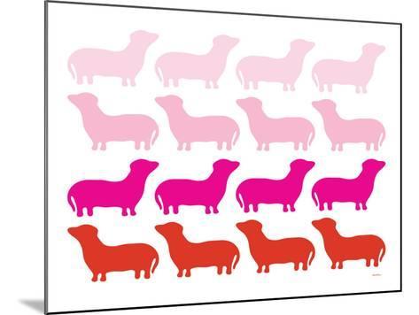 Pink Daschund Family-Avalisa-Mounted Art Print