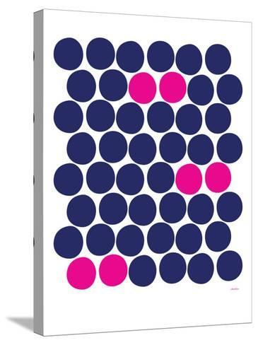 Pink Dots-Avalisa-Stretched Canvas Print
