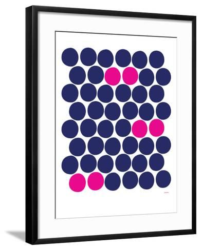 Pink Dots-Avalisa-Framed Art Print
