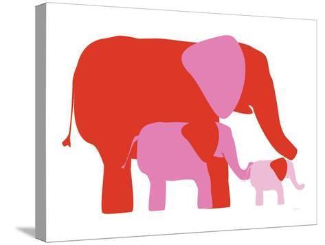 Pink Elephants-Avalisa-Stretched Canvas Print
