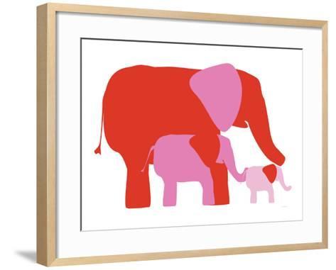 Pink Elephants-Avalisa-Framed Art Print